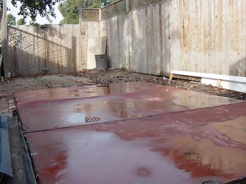 Old carport pad